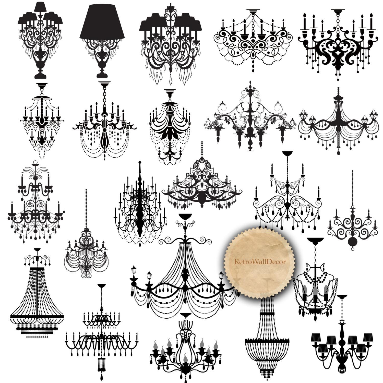 Chandelier silhouette clip art black chandelier wedding zoom arubaitofo Images