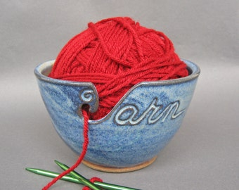 Yarn Bowl in Cobalt Blue (As Featured in Vogue Knitting) Large Size Fits Whole Skein