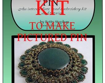 KIT- Green Modern Heirloom Pin with Braiding