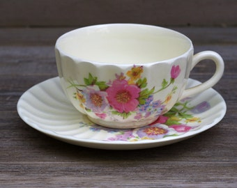 Edwin M. Knowles Spring Bouquet Cup and Saucer