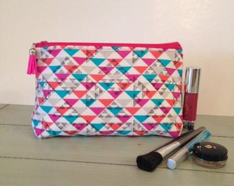Large Cosmetic Bag, Large Makeup Bag, Cosmetic Bag, Large Cosmetic Case, Large Makeup Case, Large Cosmetic Pouch,  Cosmetic Pouch