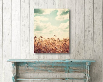 Canvas wall art, country decor, Midwest photography, Illinois art, photo on canvas, large wall art, country photograph