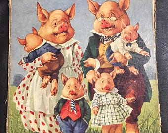The Little Pig that Would Not Get Up oversized book Edna Groff Deihl Sam'l Gabriel Sons 1925