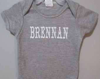 Baby Applique Bodysuit, Personalized Onepiece, Baby bodysuit