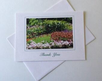 Sunny Garden Photo Note Card Blank Inside Thank You