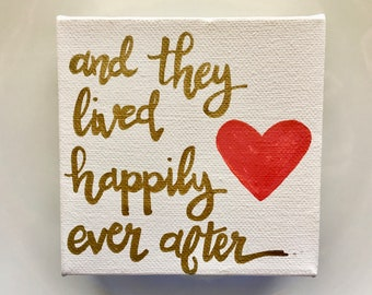 Wall Art: and they lived happily ever after