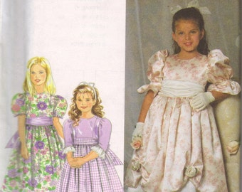 Simplicity Pattern 7466, girls size 5, 6, 7, 8   New, uncut, Dress, Flower Girl or Easter