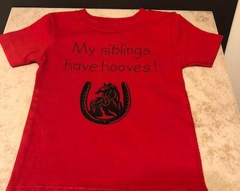 My siblings have hooves