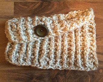 Cozy Cowl Crocheted in Pearls Photo Prop Scarf Shawl