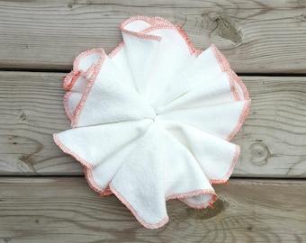 Orange Cloth Wipes, Cloth Diaper wipes, Organic Wipes, Bamboo Wipes, Family Cloth, Family Cloth Wipes, Baby Wipes, Organic Baby Wipe