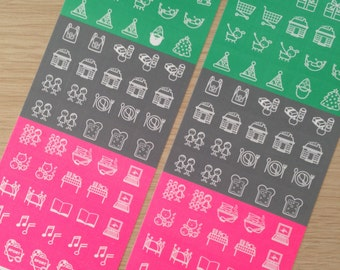 2 sheets of cute  planner stickers (ST01)