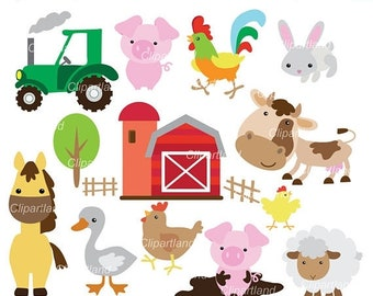 ON SALE INSTANT Download. Farm animals clip art. Cf_7. Personal and commercial use.