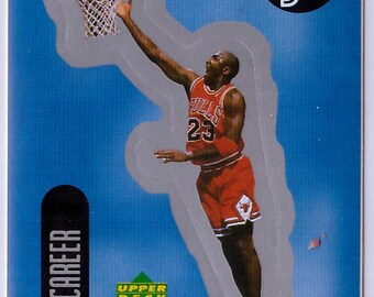 1998 MICHAEL JORDAN Upper Deck Basketball INSERT Sticker 24