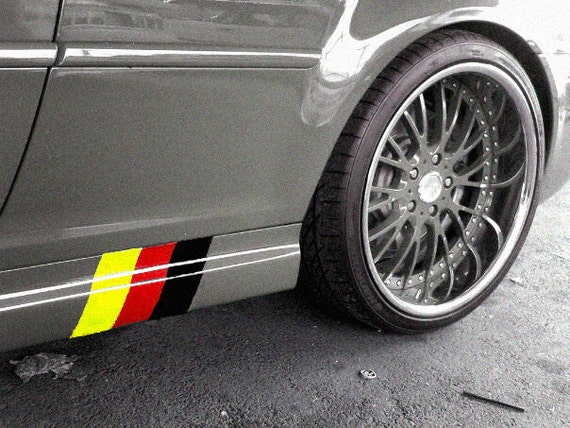 German flag sideskirt decal kit fits any german car vdub