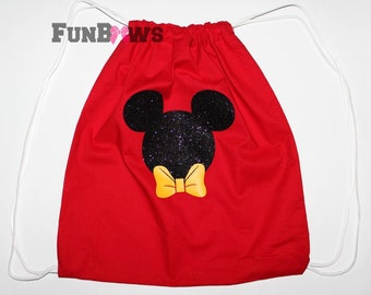 Awesome Mickey Drawstring Backpack for cheer and fun by FunBows !