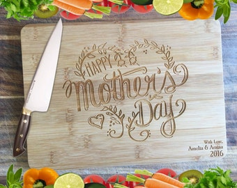 Happy Mother's Day - Personalised Engraved Bamboo Chopping Board