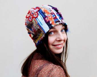Hand woven funny hat