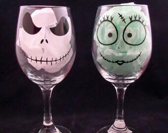 Jack Skellington & Sally 20 oz Wine Glass