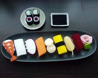 Felt Japanese Sushi Set Patterns and Tutorials PDF Sewing Patterns (Instant Download)