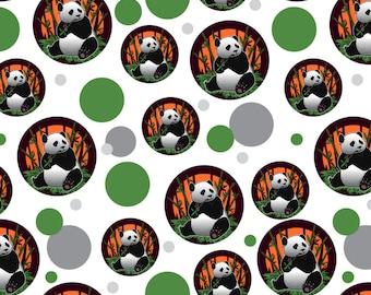 Giant panda bear eating bamboo premium gift wrap wrapping paper roll