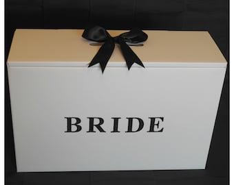 Wedding Dress Travel Box,Acid Free,Ph Neutral,Diamante Bride, BLACK