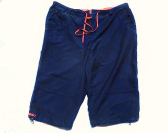 Surf shorts,Vintage swim shorts, men's summer shorts,  swim trunks,  Size Extra Large  waist,   # 21