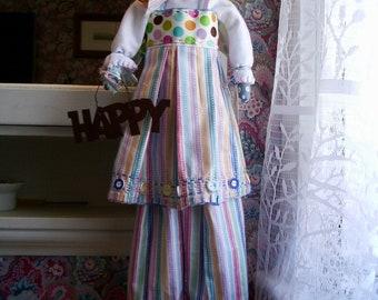 Handmade Folk Art  Primitive= Happy Helen