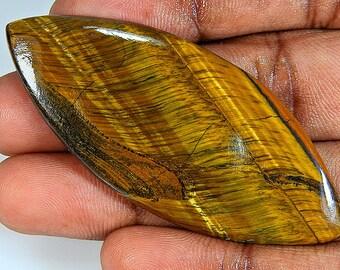 Brown Tiger Eye Marquise 23X62X5 Mm Cabochon  Gemstone ;#2083