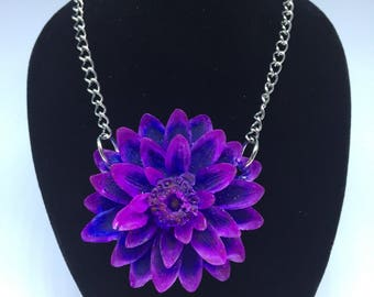 Violet and blue necklace.