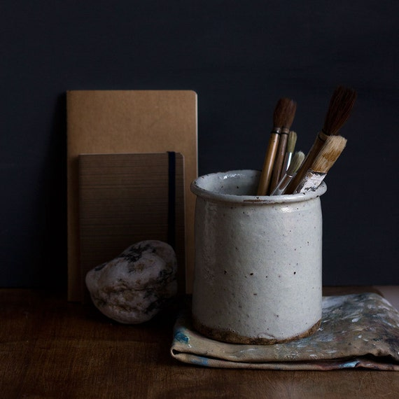 Rustic Glazed French Earthenware Pot