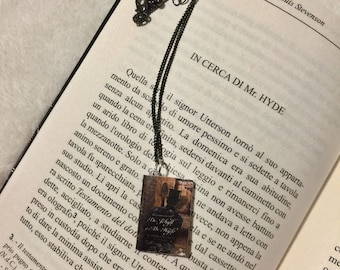 """Dr. Jekyll and Mr. Hyde"" book Pendant necklace"