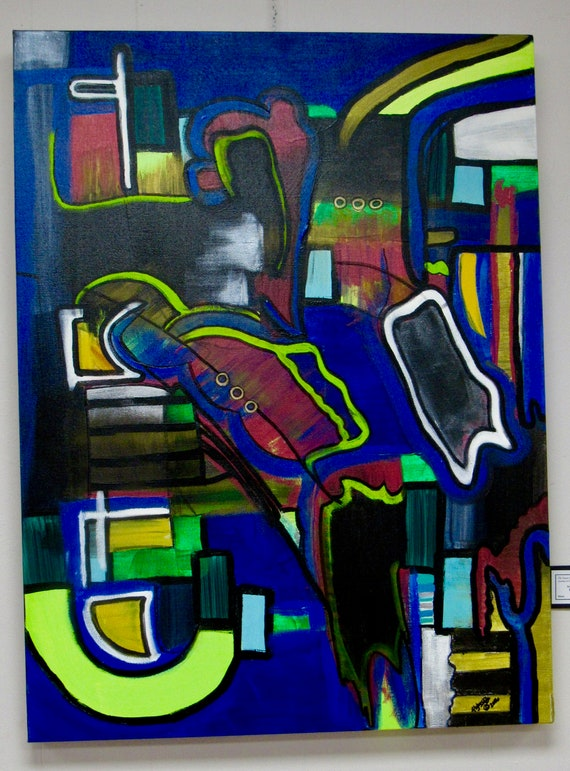 "Abstract Painting ""Playground"""