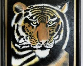 Tiger painting, Tiger wall art, Tiger eye, Tiger canvas art, Interior design, Tiger wall decor, Animal wall art, Animal wall decor