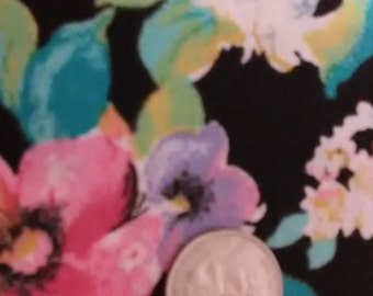 """FABRIC MULTI-COLORED/Floral/Large Print/Cotton/Two 31""""x22"""" pieces"""
