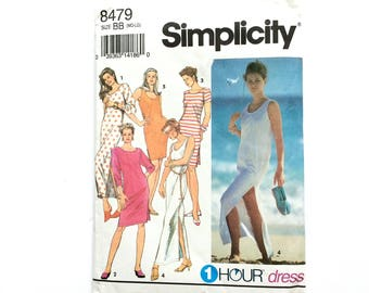 Simplicity 8479, Women's Dress Pattern, Knit Dress Pattern, 1 Hour Dress, Size 14-20, Plus size, Vintage Pattern