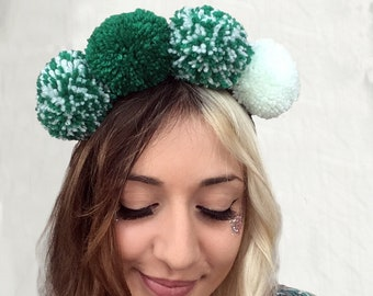Green Envy - Pompom Headband