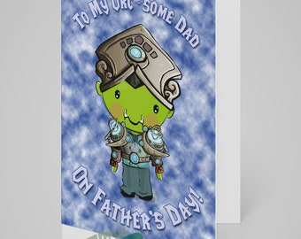 To My Orc-Some Dad on Father's Day - Funny World of Warcraft Inspired Father's Day Card for Dad