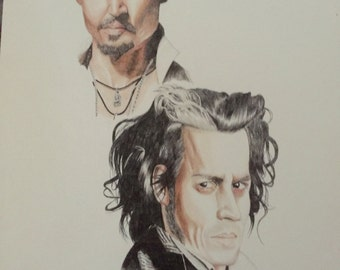 Johnny Depp as Sweeny Todd Original art - A3 size