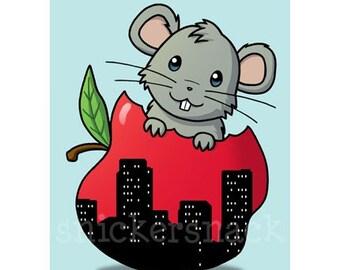 Subway Rat-chan Greeting Card