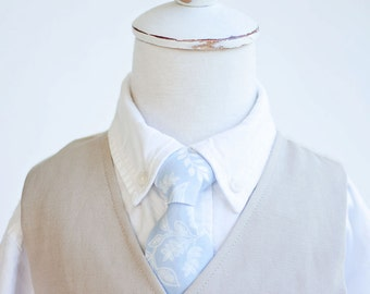 Necktie, Neckties, Boys Tie, Baby Tie, Baby Necktie, Wedding Ties, Ring Bearer, Ties, Rifle Paper Co - PRE-ORDER Queen Anne In Pale Blue
