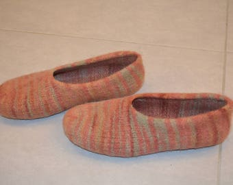 Gr. 45/46 (length 29 cm): felt House shoes with LaTeX sole / felted slippers with LaTeX sole
