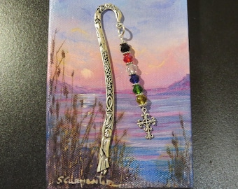 Salvation bookmark religious gift sunday school teacher gift large christian bookmark scripture bookmark sunday school teacher easter basket embossed christian metal bookmark glass beads negle Image collections