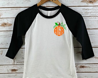 Monogram Halloween shirt, girls shirt, girls halloween shirt, personalized shirt, personalized halloween shirt, personalized, halloween