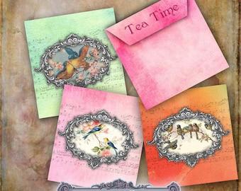 Tea Bag Envelopes in Three Colours