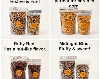 Popcorn in bulk - gourmet popcorn for movie night - organic grown popcorn for wedding popcorn bar, popcorn boxes or your popcorn bowl