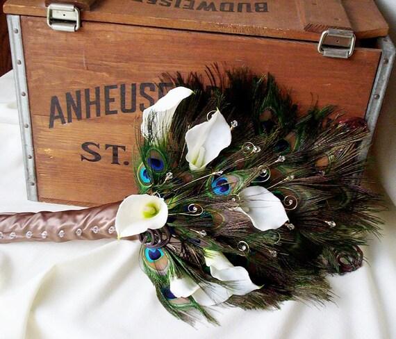 Peacock Wedding Ideas Etsy: Items Similar To Peacock Weddings Feather Fan Bridal