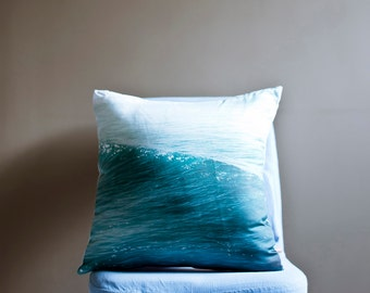 Ocean Pillow- Organic Pillow, Photo Pillow, Decorative Pillow, Throw Pillow, Pillow Sham - Nautical Home Decor
