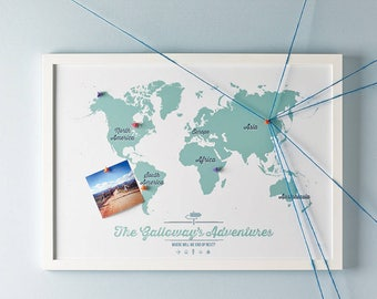 Travel map etsy personalised world travel map world personalisedgiftwall dcormaptravel maptravel printgift for himgift for herfree shipping gumiabroncs Choice Image