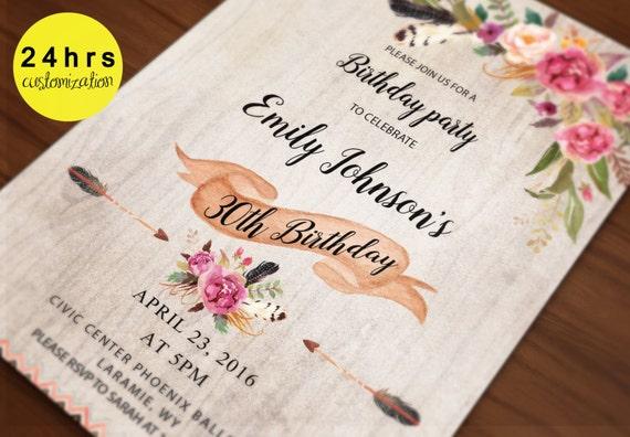 Printable Birthday Stationery Paper ~ Birthday invitation template birthday card template
