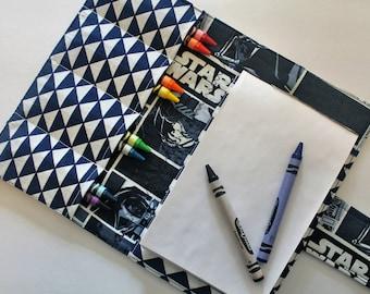Crayon Holder - Kids Coloring - Travel Toy - Star Wars Print - Star Wars Coloring Case - Coloring - kids crafts - children's gift - Boy Gift